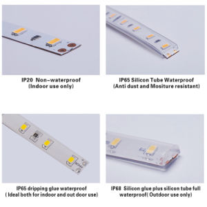 24V 8mm暖かく白く適用範囲が広いLEDのストリップ