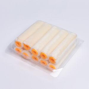 4 結め換え品が付いている小型プラスチックハンドルのペンキローラー