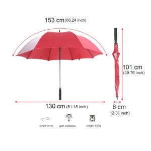El eje largo Golf paraguas con borrar la publicidad de promoción de la ventana de Poe PARAGUAS paraguas paraguas regalo