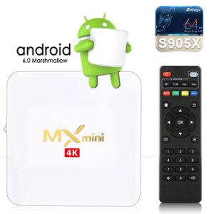 Androider Fernsehapparat-Kasten, Android 7.1 des Fernsehapparat-Kasten-MX-Mini2gb/16gb Amlogic S905W Bits WiFi Vierradantriebwagen-Kern-64 intelligenter Kasten Fernsehapparat-4K