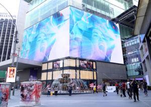 Haute luminosité affichage LED de panneaux pour les publicités extérieures avec boîtier en aluminium 1024*768