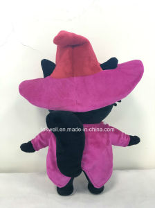 고품질 주문품 견면 벨벳 재킷과 조끼를 가진 마술 고양이 인형 장난감