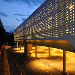 Revêtement en aluminium moderne Panneau en aluminium de mur en taille personnalisée