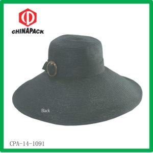 Cappello della signora Summer Paper Straw Bucket (CPA-14-1091)