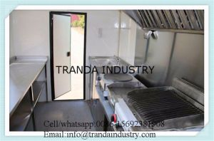 Rimorchio del carrello dell'alimento del forno da vendere
