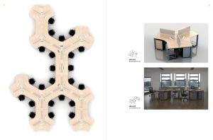 Disposition de conception espace ouvert de places station de