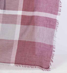 100%corante de fios de moda de Caxemira Plaid lenço quadrado