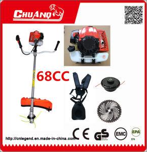 68cc gasolina Cortador de mango del cepillo del cortador de césped con sistema antivibración