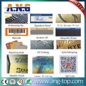 Scheda di insieme dei membri del PVC di stampa RFID di Cmyk con la timbratura dorata del laser