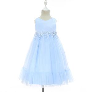 f967a722e Nuevo 2019 Primavera Verano encantador Elsa moda gasa vestido de fiesta  Kids chica