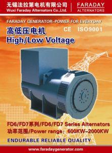 Faraday 1250kVA/1000kw die Sinlge/Dubbel de Permanente Generator van de Alternator van de Magneet draagt