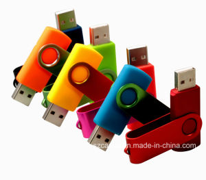 工場卸売によってカスタマイズされるロゴの大きさの旋回装置USB