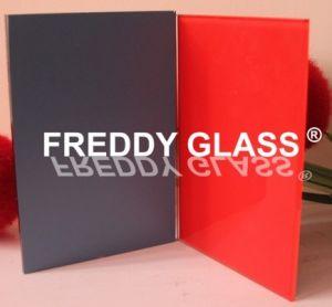 met een laag bedekte Glas van de Verf van 2mm het Rode Glas met het Italiaanse Schilderen van de Laag