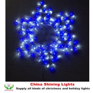 La cuerda enciende la decoración del día de fiesta de la Navidad de las luces del adorno del LED