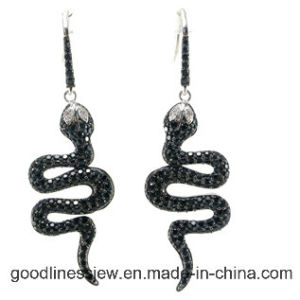 Micro Pave AAA Zirconia 925 Silver Earring para Lady Made em China E6187