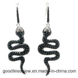 Micro Preparar Zircónia AAA 925 brinco de prata para senhora fabricados na China E6187