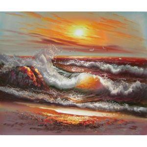 Het Olieverfschilderij van het Zeegezicht van het impressionisme