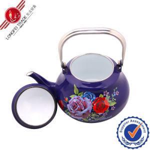 2.0L紫色カラーベークライトのハンドルは印刷のエナメルのやかんをカスタマイズする