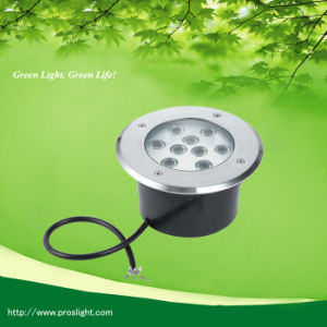 85-265VAC 9X1w LED in-Ground Light 15D/30d/45D/60d Lens