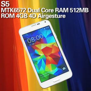 S 5 WiFi com núcleo duplo de 5 polegada a Mtk6572 4D GSM 2g gesto ar melhor venda de telefones Android