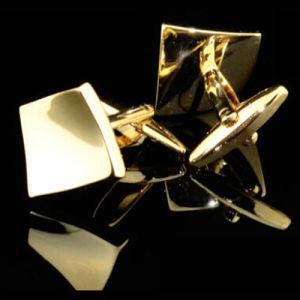Gemelli francesi dell'oro del regalo di qualità (Hlk30611)
