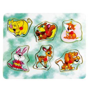 Soem-hölzernes Tier-geformte Stöpsel-Puzzlespiele
