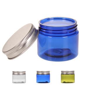 装飾的なパッキングのためのふたが付いている明確なガラス円形のクリーム色の瓶