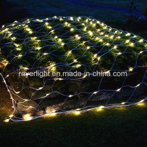 2つのカラー屋外のネットはLEDの庭の装飾ライトをつける