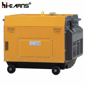Air-Cooled grupo electrógeno diesel de color rojo (DG6500SE).
