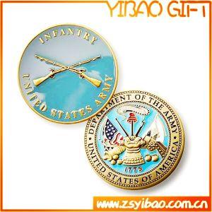 Moneta in lega di zinco placcata personalizzata del rame dell'argento dell'oro (YB-c-005)