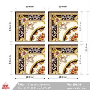 Tegel van het Tapijt van het Bouwmateriaal van de kunst de Bevloering Gevormde (VA12P6061, 1200X1200mm)