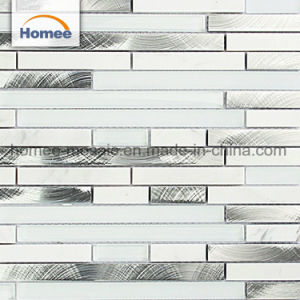 アルミニウムブレンドの極度の白いBackspalshのガラス石造りのモザイク・タイル
