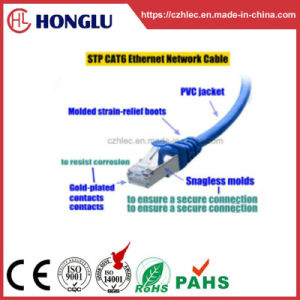 이더네트를 위한 RoHS 1000Mbps Cat5e STP 통신망 근거리 통신망 케이블