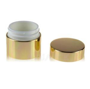 電子めっきのアクリルの円形の整形クリーム色の瓶