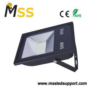 プラスチックアルミニウムLEDプロジェクター、センサーが付いている50W IP65 LEDプロジェクターランプ