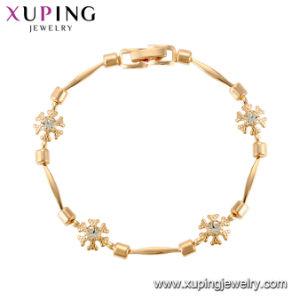 De eenvoudige Armband van de Ketting van het Messing in Roze Goud