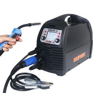 Inversor sinérgica portátil soldador CO2 MMA/TIG/Mag/200 No-Gas Soldar MIG