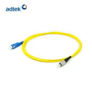 Sc de alta calidad para el conector FC monomodo 9/125 Upc simple cable de conexión de fibra óptica