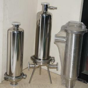 Alojamento do filtro de líquido de aço inoxidável e saco de filtro de condutas de água da carcaça da tela para filtração do vinho