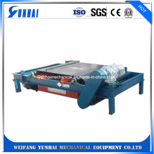 Separador magnético permanente Correia Máquinas Mineral para o tapete de equipamentos de separação