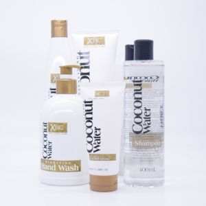 O OEM 300ml de extracto de água de coco em cuidados de pele hidratante gel de duche