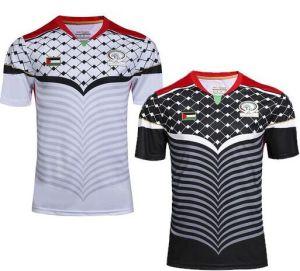 Camisetas De Futbol Newデザインコオロギのジャージのパレスチナのフットボールのジャージのサッカー2016 2017年
