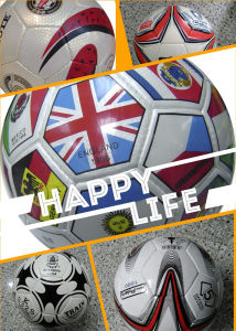 4# pegado de la máquina de PU de PVC pelota de fútbol