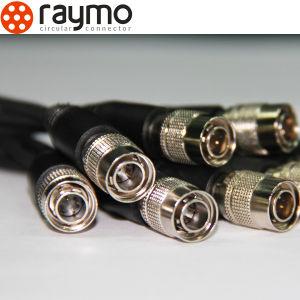 4つのPin Femal Ciurcularの金属のコネクターHr10シリーズまっすぐなプラグ