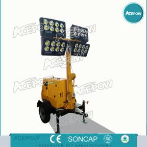 5kw monophasé générateur de la tour d'éclairage mobile