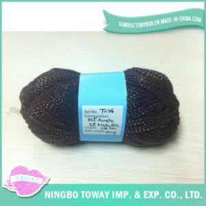 100%Malha Acrílico Net Lado Fios de lã tricô com Lurex