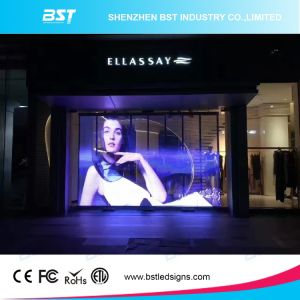 P5mm affichage LED en verre transparent avec 80 % Taux de transparent