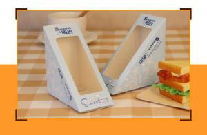 明確なWindowsが付いているカスタム最も安く、カスタムサンドイッチペーパー折るギフト用の箱