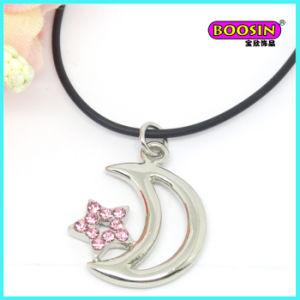 Collana Chain di cuoio all'ingrosso del pendente della zolla d'argento della lega del fornitore