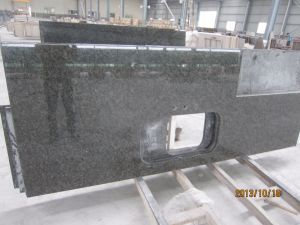 Het Graniet Kitchentop van de Tuba van countertop-Verde Uba (yqa-GC)